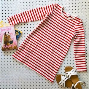 Girls size7 SEED HERITAGE Red Striped winter dress